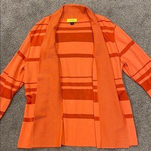 St. John orange cardigan
